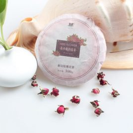Rose (Gold Border)  – Flower Tea – Miss Flower – 100g